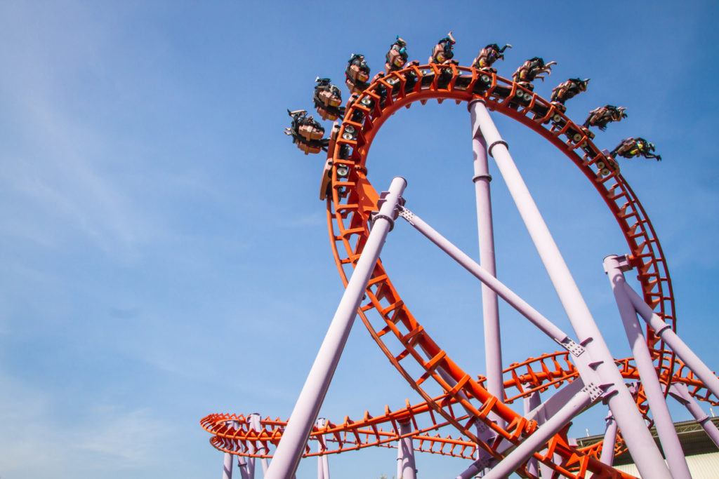 Rollercoaster at an amusement park